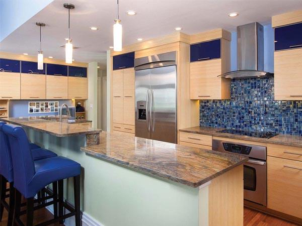 Exquisite modern kitchen with Jakarta cabinets from Bertch designed by Seiffert Kitchen & Bath