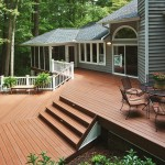 TimberTech Deck Tropical Pacific Rosewood Radiance Rail White