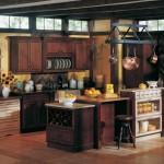 Merillat Classic Lariat Cherry Paprika Ebony Glaze Cabinets