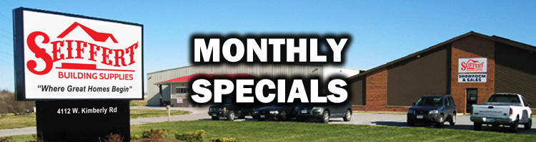Seiffert Building Supply Specials