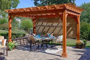 Cedar Deck Pergola
