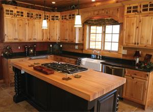 Rustic Alder Kitchen Cabinets Seiffert Building Supplies