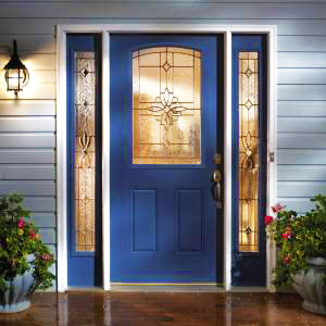 Taylor Blue Entry Door