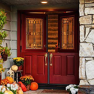 Latest trends in entry door styles and colors seiffert for Therma tru double entry doors